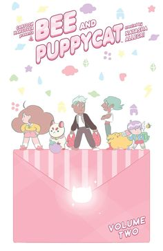 Bee and Puppycat 2 (Bee and Puppycat) (2016) By Allergri, Natasha (CRT) / Zysk, T. / Garland, Chrystin / Nicholls, Flynn/  Children's manga Bee just wants to enjoy the good things in life like delicious food and the sweet entertainment of television, too bad money gets in the way. Join Bee and PuppyCat as they take up magical temp jobs, lose library books, and learn the importance of cleaning up after themselves in this cute collection of stories.
