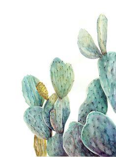 Cactus 2 impresión del arte por LaurelandPearl en Etsy