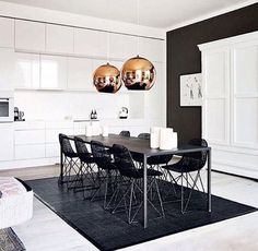 Simple and bold decor. Black. White. Gold. Follow us on Instagram @d-luxedesign #dluxedesign #dluxevino