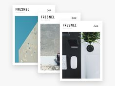 Some visual direction for Fresnel's online magazine covers.  Check the attachment for larger views.