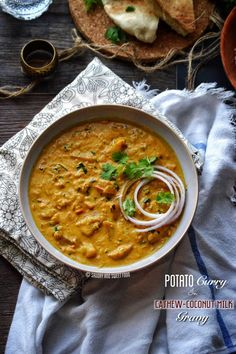 A very thick and rich potato curry with a gravy made with coconut milk and cashew nuts. It is spiced very well with the indian spices, and a final touch of kasuri methi and butter gives the curry a…