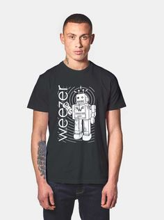 bb0f0dfe96412 Best Cheap Custom Tshirt And Cell Phone Case From USA Weezer Robot T Shirt  Price
