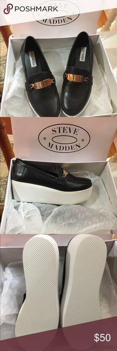 Steve Madden J fresh platform loafers Worn once but hardly any sign of wear. Steve Madden Shoes Platforms