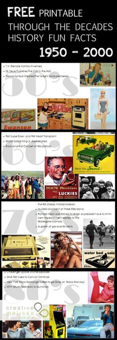Top history and pop culture printable - Creative Melissa Designs
