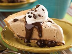 Decadent Mud Pie - 5 ingredients is all you need to make this amazing pie recipe. Grab a spoon and dig in!