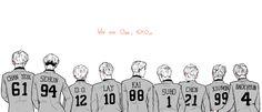 Image in EXO Fanart collection by Chou Chou on We Heart It Twitter Header Photos, Twitter Layouts, Exo Group Photo, Exo Stickers, Exo Anime, Exo Songs, Gothic Wallpaper, Exo Album, Exo Lockscreen