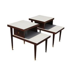 Retro+Modern+Furniture | Vintage Mid Century Modern Two Tier End Tables | eBay
