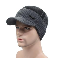 e07342614d788 Men s Winter Beanie Hat with Wool scarf