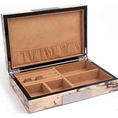 Pompeii Jewelry Box - Exotic Ice Burl