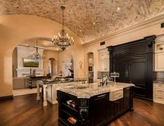 Make what you do a labor of love. The work you do, whichever field, will be the … - luxury kitchen Fancy Kitchens, Elegant Kitchens, Custom Kitchens, Luxury Kitchens, Beautiful Kitchens, Home Kitchens, Luxury Kitchen Design, Mediterranean Homes, Country Style Homes
