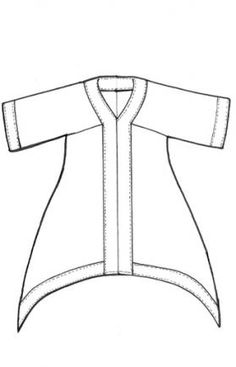 Lagenlook Sewing Patterns   This tunic is a sumptuous blend of hemp & silk charmeuse one side has ...