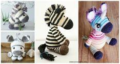 Amigurumi Zebra Crochet Free Patterns: Crochet jungle animals free patterns for kids, rainbow, white and black easy toy zebra crochet Crochet Cord, Diy Crochet, Crochet Baby, Crochet Butterfly Free Pattern, Crochet Patterns, Crochet Girls, Crochet For Kids, Crochet Waffle Stitch, Crochet Market Bag