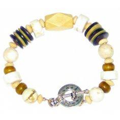 Off-White-Magnesite, Brown, Khaki and Beige Men's Bracelet