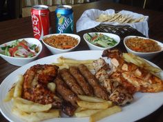 BBQ Platter with variety of sauces