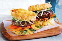 Ramen Recipes, Hamburger Recipes, Noodle Recipes, Cooking Recipes, Sauce Teriyaki, Teriyaki Tofu, Yakitori, Le Curry, Pork Cutlets