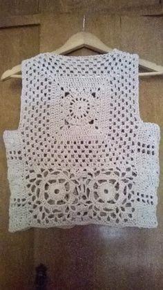 Estilo Crochet: Chaleco granny !!!