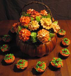 Beautiful Fall cupcake bouquet