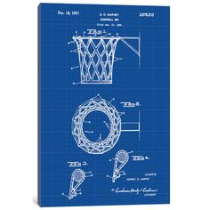 'G.D. Garvey Basketball Net' Graphic Art Print on Canvas