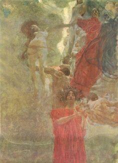 Gustav Klimt - Painted composition design to medecine: 1887-1888