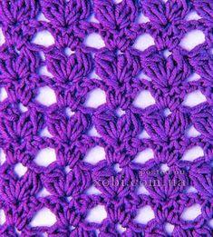Esquema de patrón crochet abanico calado #7