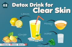 5 Best Detox Drinks for Clear Skin 2020 – Okey Bye Detox Water To Lose Weight, Detox Water For Clear Skin, Healthy Fruits, Healthy Drinks, Healthy Foods, Healthy Recipes, Honey Lemon Water, Best Detox, Health And Fitness Articles