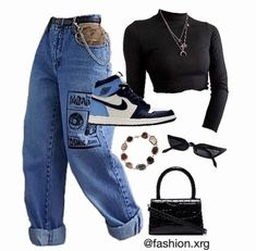 Swaggy Outfits, Baddie Outfits Casual, Cute Swag Outfits, Cute Comfy Outfits, Stylish Outfits, Polyvore Outfits Casual, Swag Outfits For Girls, Teen Fashion Outfits, Retro Outfits