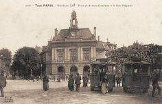 L'avenue et la place Gambetta au niveau de la rue Belgrand, vers 1900.