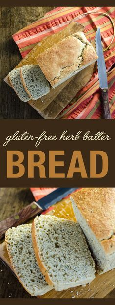 Gluten-Free Herb Batter Bread - a savory crusty vegan recipe that goes ...