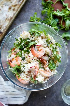 Shrimp Israeli Couscous Salad