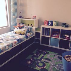 From toddler to growing boy!  Hard to find furniture to dress a boys room!  Thank god for IKEA!!!