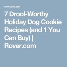 7 Drool-Worthy Holiday Dog Cookie Recipes (and 1 You Can Buy) | Rover.com