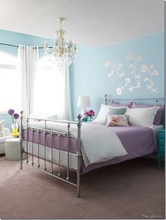 turquoise and purple rooms - Google Search