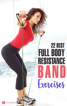 22 Best Full Body Resistance Band Exercises: Resistance bands are stretchable bands used by trainers and fitness enthusiasts to step up their muscle toning and body strengthening game. ead on to find out how to use resistance bands to get a sculpted body. Full Body Workouts, Fitness Workouts, Slim Fitness, At Home Workouts, Health Fitness, Fitness Logo, Fitness Plan, Muscle Fitness, Fitness Motivation
