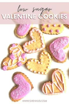 A lightly sweetened, gluten-free sugar shape cookie that tastes very similar to traditional sugar cookies for valentine's day. #ovenhug #lowsugar #almondflourcookies Gluten Free Recipes For Kids, Healthy Holiday Recipes, Gluten Free Baking, Almond Flour Cookies, Keto Cookies, Sugar Cookies, Valentines Food, Valentine Cookies, Healthy Treats