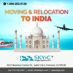 Are you want to ‪#‎Relocate‬ from USA to India ? Sky2c offers affordable Shipping Quotes for ‪#‎Moving‬ and ‪#‎Relocatingtoindia‬. Call us Today for Free Quotes at +1 800-353-5128