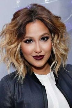 24 Ombre Hair Color Styles for Short Hair: #17. Messy Wavy Ombre Hair Style: