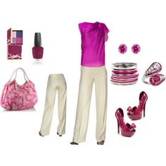 Cute for Spring! I especially love the purse and heels!