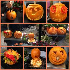 Natalie and Donna aka the witches of Daisy's have been cackling and carving away today! what do you think? Happy Halloween everybody!