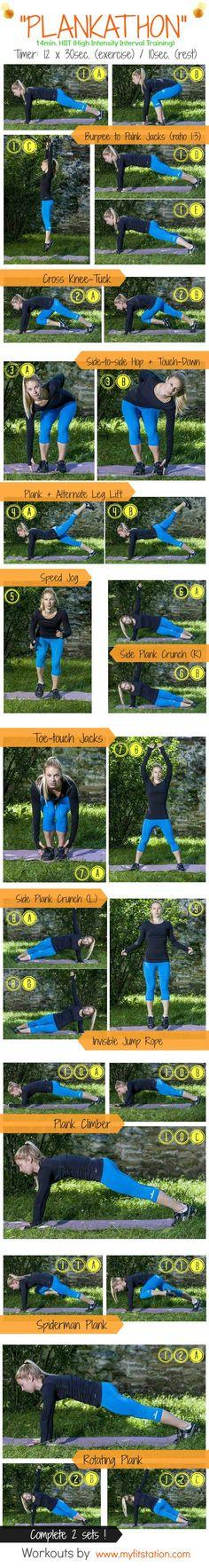Plankathon workout