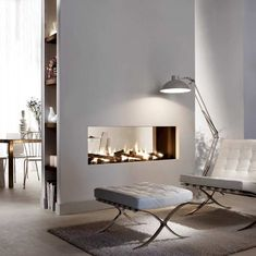 open space living inspiration - The Urban Interior Home Fireplace, Modern Fireplace, Home Living Room, Living Room Designs, Open Space Living, Modern Bedroom Design, Room Colors, Home Deco, Furniture Design