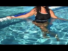 The gluteal muscles work in conjunction with the hamstrings and the inner thighs and they're strengthen by squatting, jumping and all types of exercises that you do in the water. Firm your bottom with water aerobics with help from an experienced fitness professional in this free video clip.