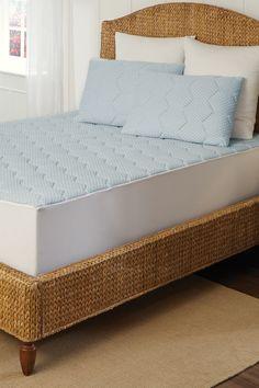 Europeudic Cool-Gel Memory Foam Mattress Pad - Blue by Rio Home on @HauteLook
