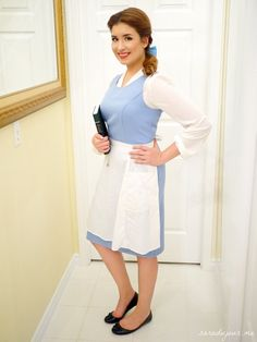 My #Halloween #costume is on the blog today! Can you guess who I am? http://saradujour.me/post/65754999481/halloween-2013-costume-1-belle