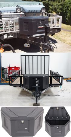 Awesome toolbox for the trailer! DeeZee Specialty Series Trailer Tongue Toolbox - secure is water-resistant storage unit for cargo, horse or utility trailer. When it comes to trailer accessories and ideas this toolbox is useful and simple!