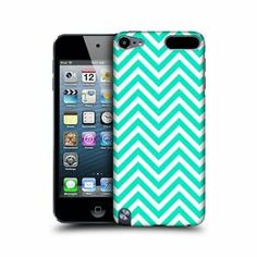 HEAD CASE NEON TEAL NEON CHEVRON BACK CASE COVER FOR APPLE iPOD TOUCH 5G 5TH GEN