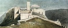 The west side of the Acropolis with the Frankish Tower, in a painting by Lemercier. Athens a history of 8000 years. - Page 2 - SkyscraperCity Acropolis, Athens Greece, Archaeology, Mount Rushmore, Greek, Old Things, Tower, Mountains, History