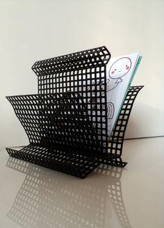 Great shaped Pilastro / Mategot letter holder napkin by Veryodd Letter Holder, Cool Designs, Napkins, Dining Table, Lettering, Shapes, Color, Etsy, Home Decor
