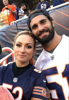 Rollynch at the Chicago Bears Stadium Wwe Seth Rollins, Seth Freakin Rollins, Bailey Wwe, Becky Wwe, Wwe Couples, Wwe Pictures, Catch, Rebecca Quin, Wwe Female Wrestlers