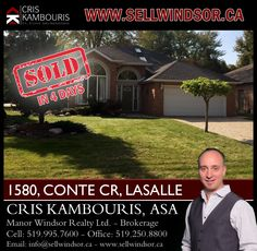 (SOLD IN 4 DAYS) - If you are ready to buy or sell a home in Windsor - Essex County call me today! I'm here to help! www.sellwindsor.ca - Ph. 519.995.7600 ‪