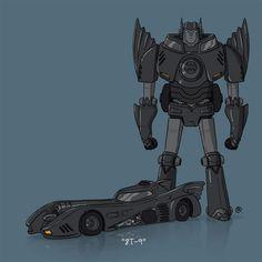 Burton Batmobile Transformer Art by Darren Rawlings, rawlsy.deviantart.com